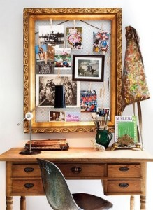 marco de cuadro como tablero vintage