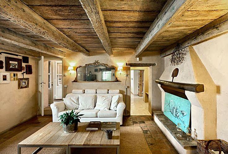 Decoraci n con muebles r sticos salones cocinas - Salones de casas rusticas ...