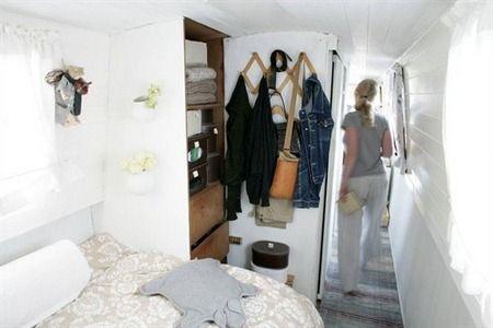 Interior barco-apartamento