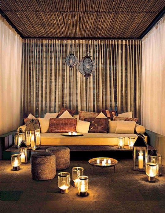 C mo crear un espacio chill out en tu propia casa - Decoracion zen salon ...