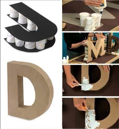 Como hacer letras para decorar la casa