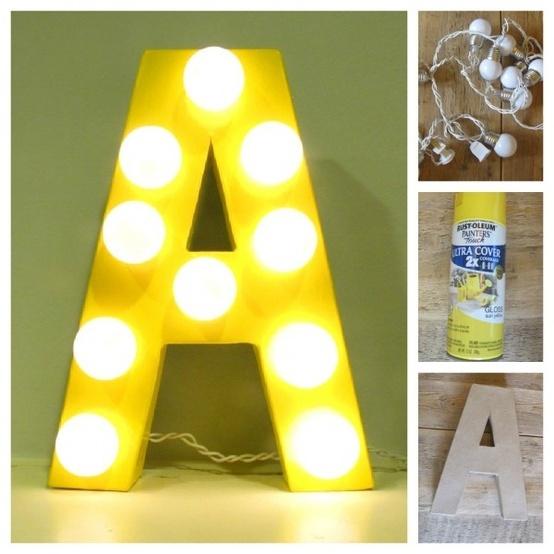 Las letras con iluminación son soluciones decorativas efectivas y prácticas
