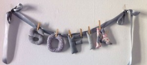 La decoración con letras puede servir para personalizar estancias