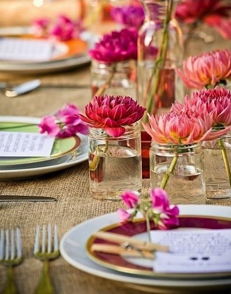 adornos mesa comedor
