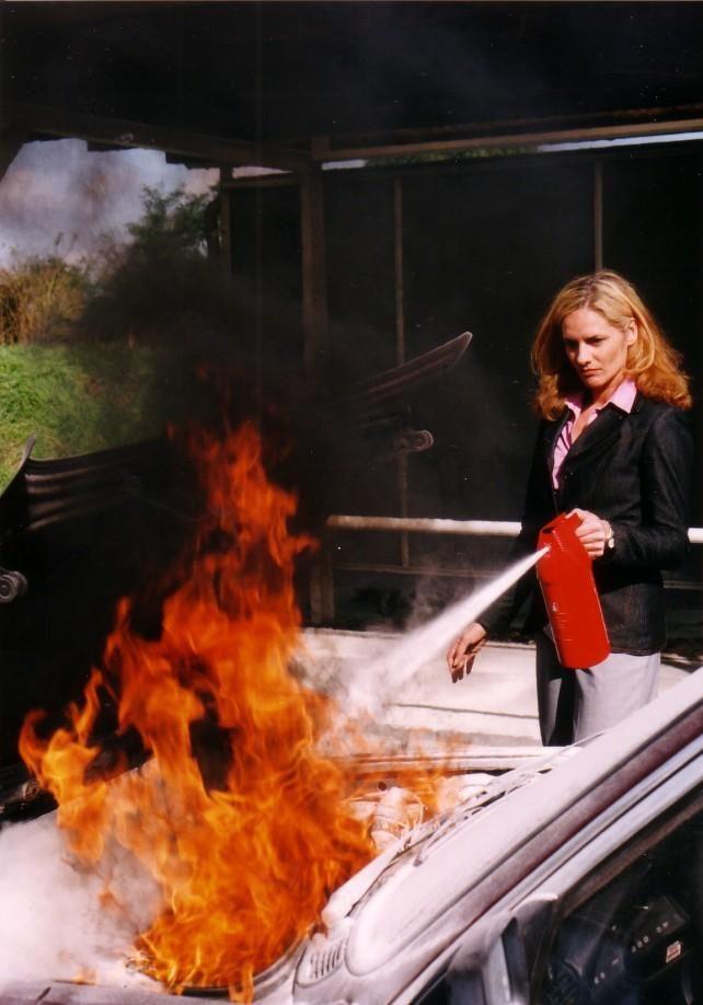 Cómo apagar un incendio doméstico