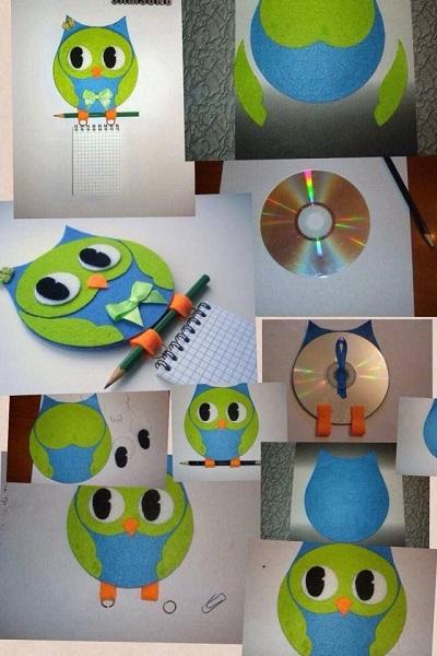Decoración con cds reciclados - api.cat