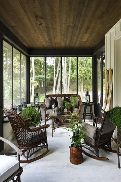 Cómo decorar un porche de casa: porches de madera - api.cat