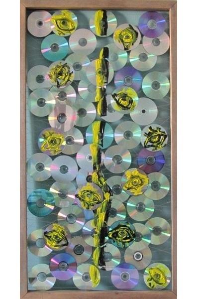 Pinterest CD Recycled Art