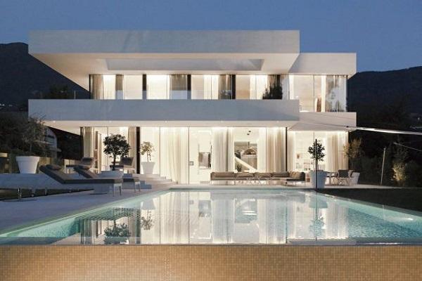 Estilo minimalista en interiores y fachadas fotos de for Casa tipo minimalista