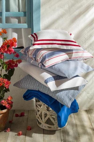 decoración mediterránea textiles