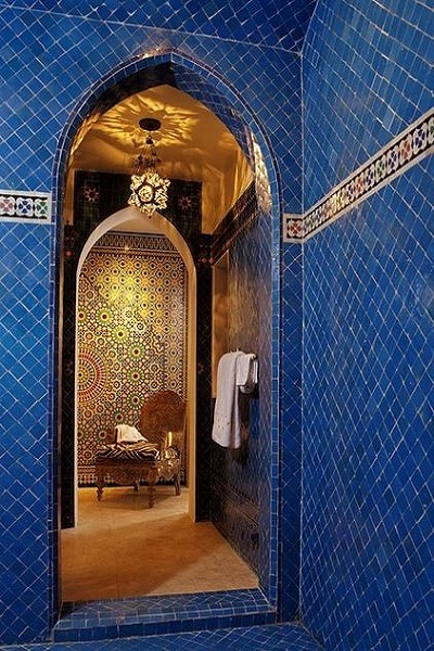 baño estilo árabe