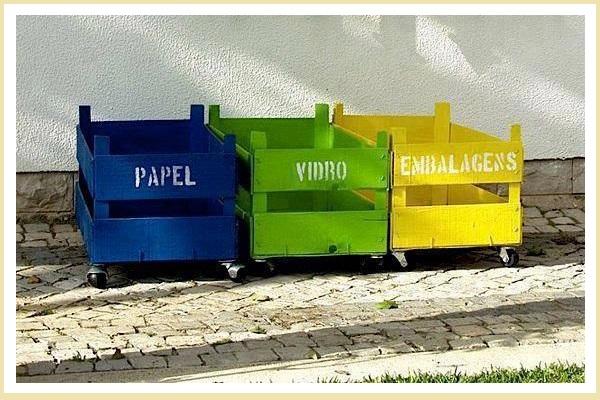 cubos de reciclaje diy
