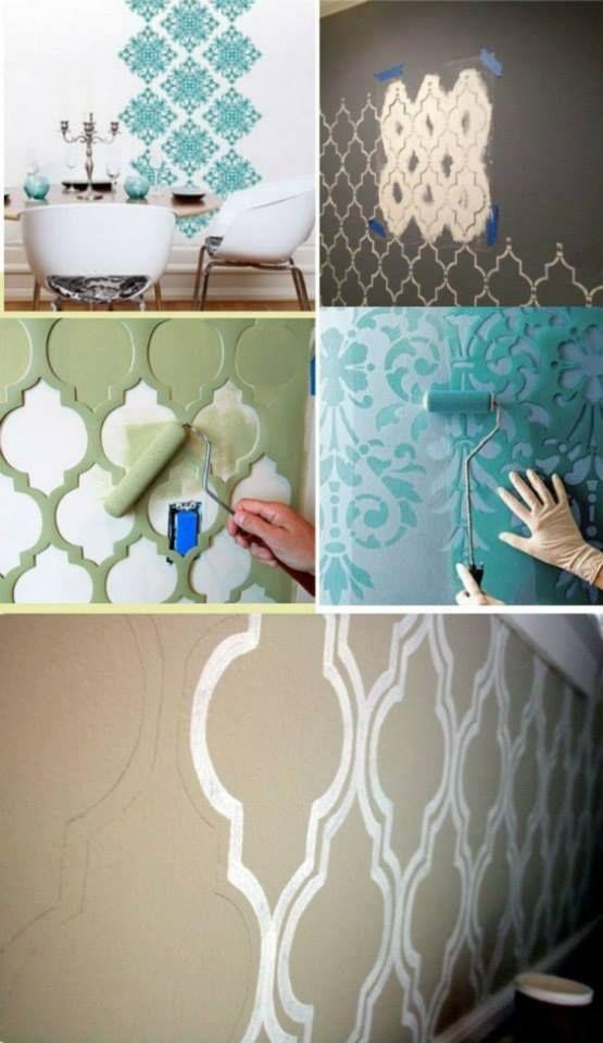 una buena idea para pintar y decorar paredes son los rodillos con efectos - Decoracion Pintura Paredes