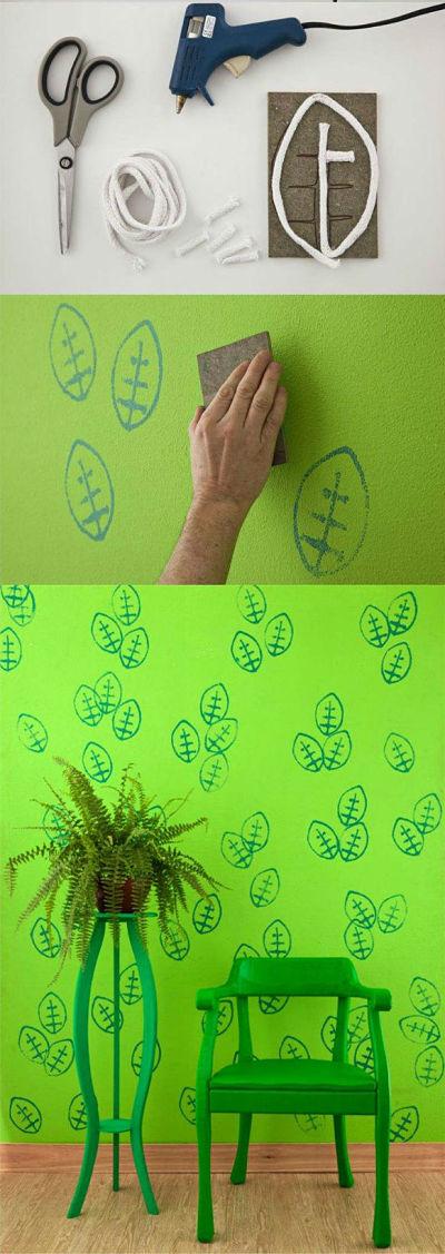 Puedes crear tus propios efectos de pintura como idea decorativa
