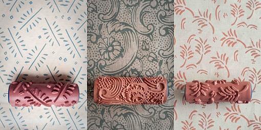 Los rodillos con texturas se indican como una de las grandes ideas para decorar paredes