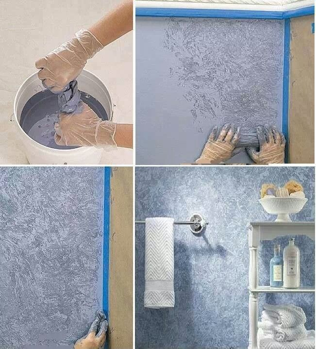 Las texturas creadas con paños son una de las ideas para pintar paredes más recurrentes y con mejores resultados