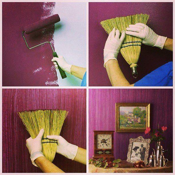 Pintar las paredes con texturas es una gran idea creativa para decorarlas
