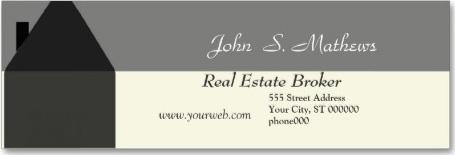 Targeta de visita d'un agent inmobiliari