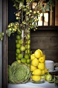 centro de mesa frutas verduras