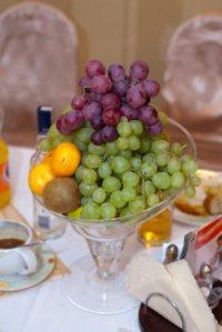 centro mesa frutas