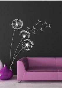 vinilos florales decorativos