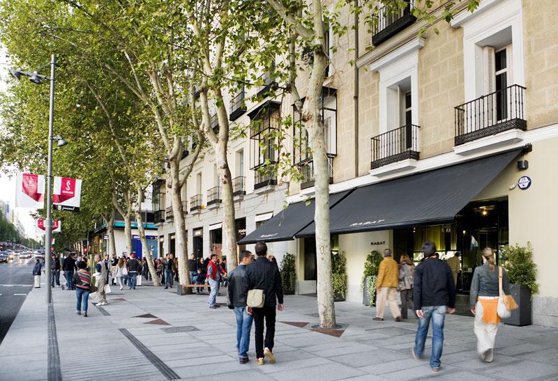 Tráfico de transeúntes en Madrid