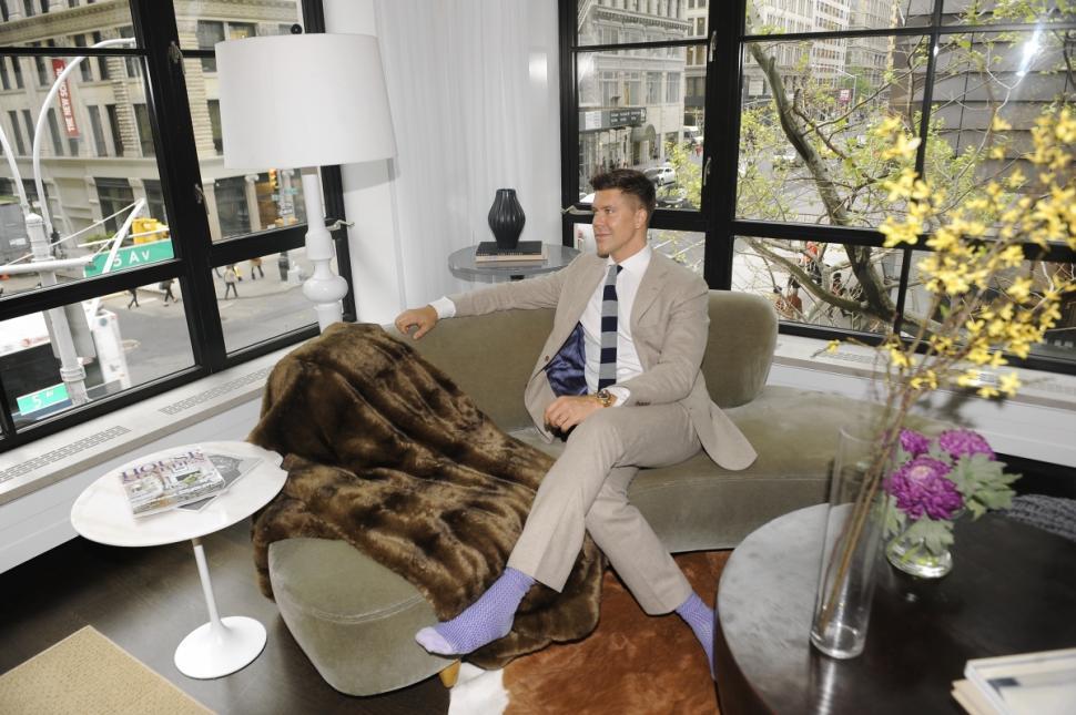 Fredik Eklund en su apartamento de Nueva York