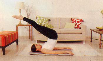 Pilates al saló de casa