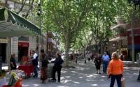 Flujo peatonal en Barcelona
