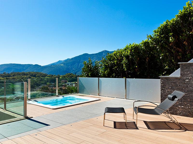 Jacuzzi De Exterior Burbujas Con Estilo - Jacuzzi-exterior-terraza
