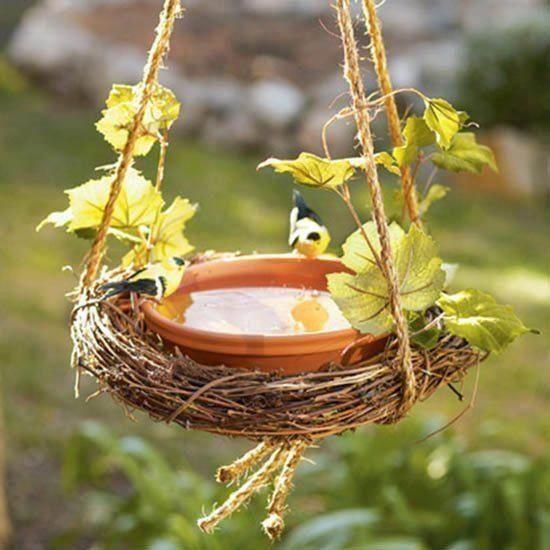 Bebedero para pájaros
