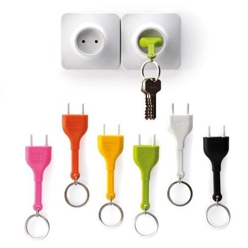 Colgador de llaves de enchufes