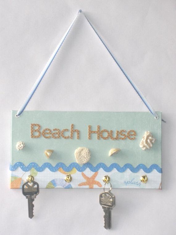 Colgador de llaves para la playa