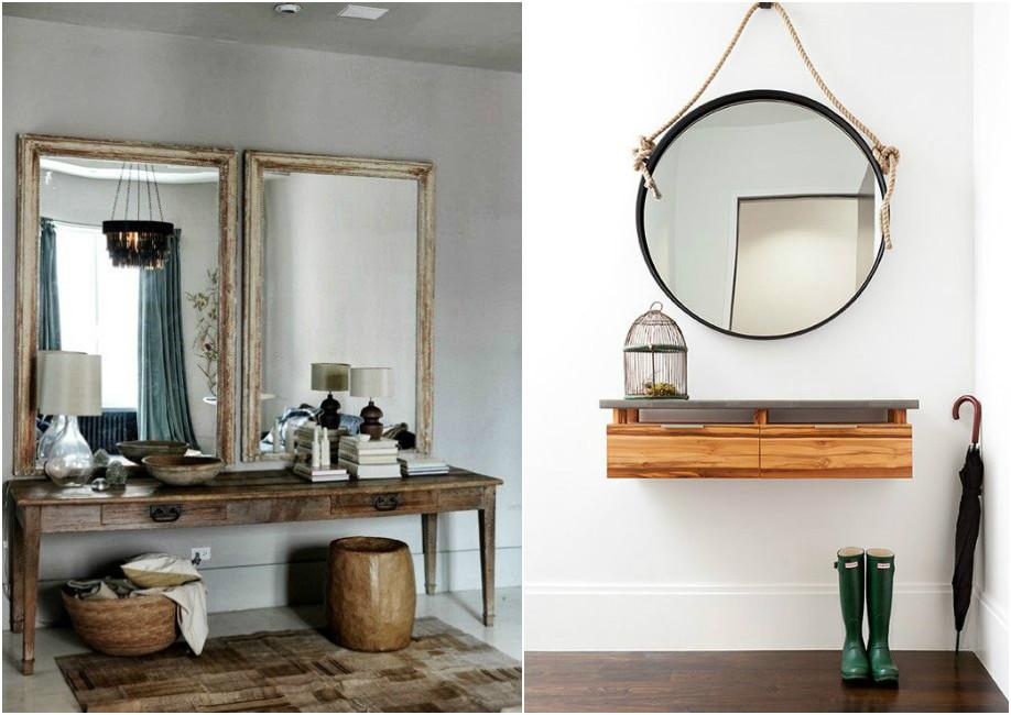 con un poco de buen gusto se pueden conseguir recibidores realmente bonitos gracias al poder decorativo de los espejos with recibidores con encanto - Recibidores Con Encanto
