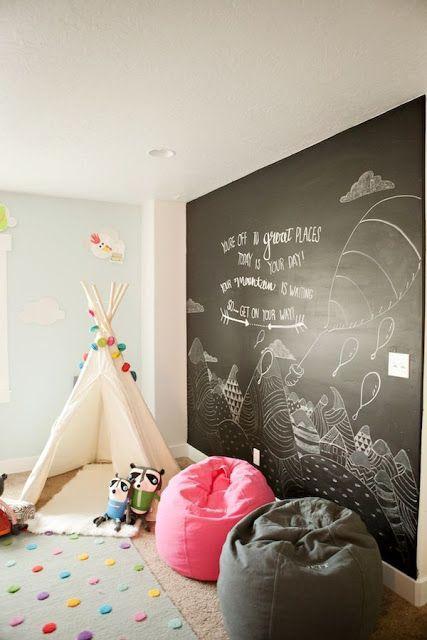 Pizarras en la habitación de los niños