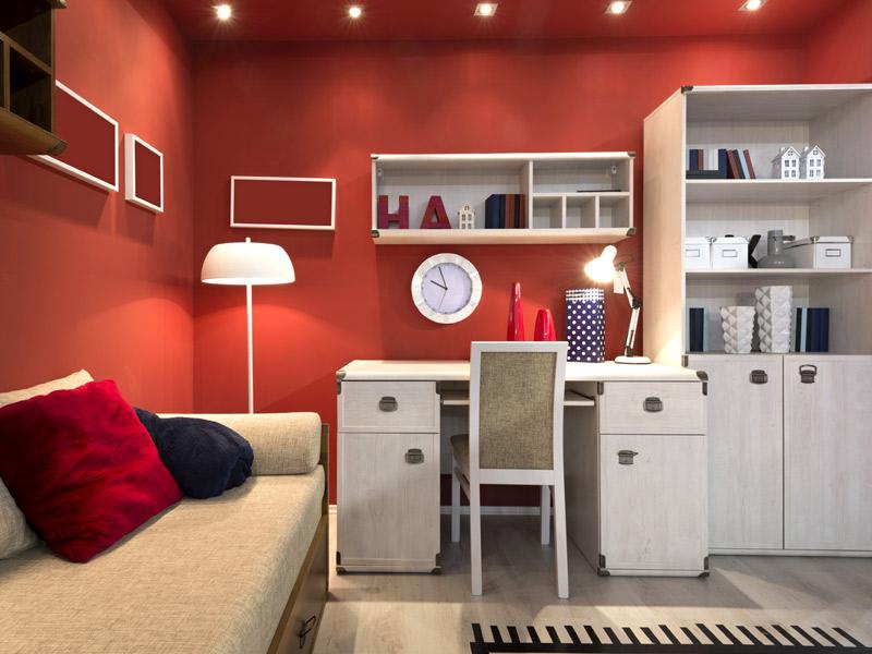 Zona de estudio en la habitación