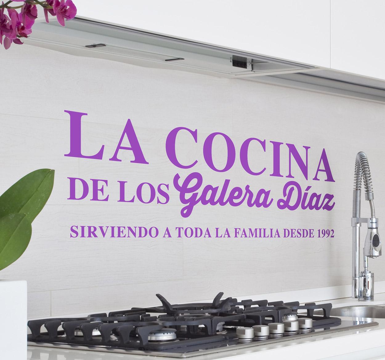 Vinilo para la cocina personalizado