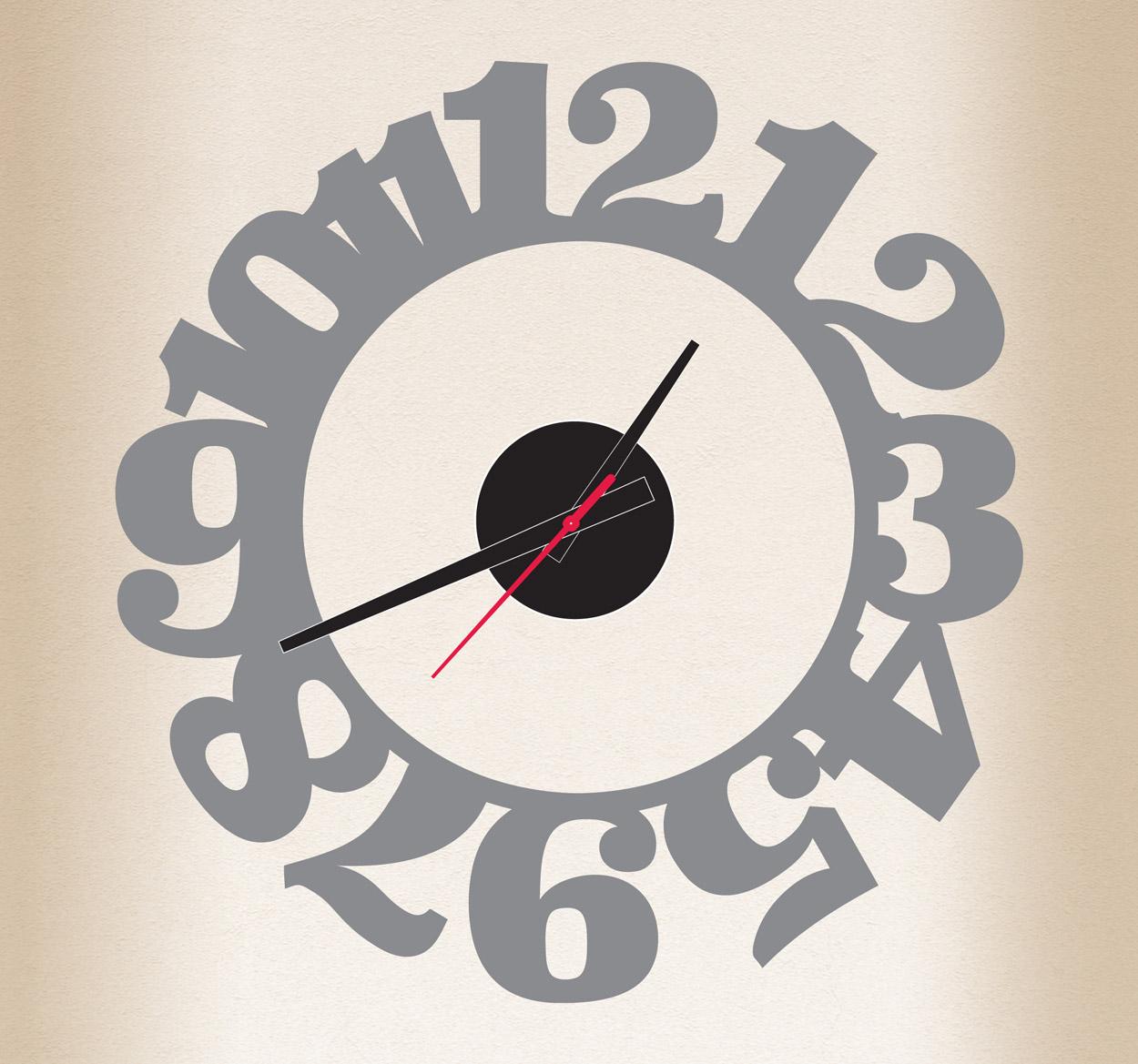Reloj de vinilo