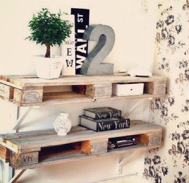 estanterias con palets