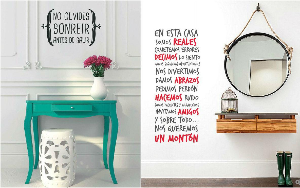 Ideas baratas para decorar tu recibidor apicat