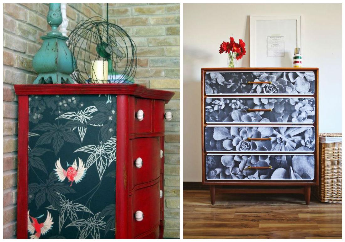 reformar muebles papel pintado