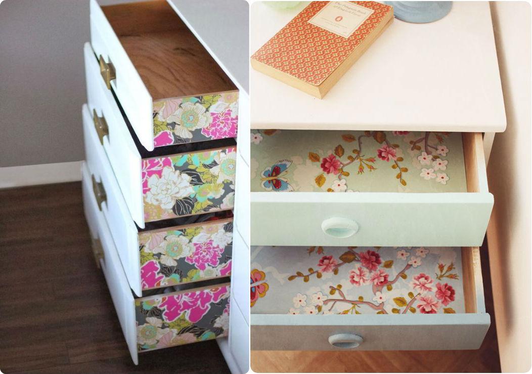 decorar mobles paper pintat