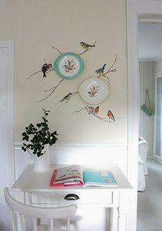 Crear escenas con platos decorativos