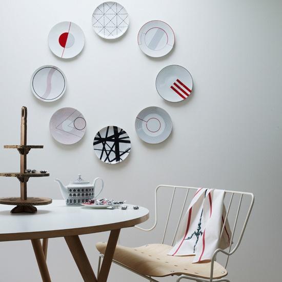 Platos decorativos en círculo