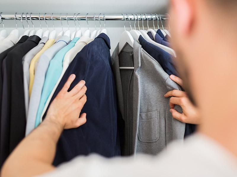 Cómo organizar un armario para hombres