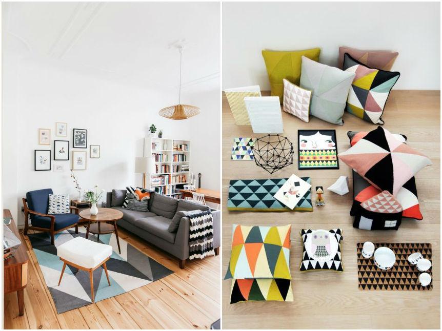 decorar con formas geométricas