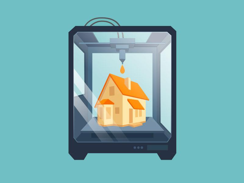 Construcció de cases amb impressió 3D