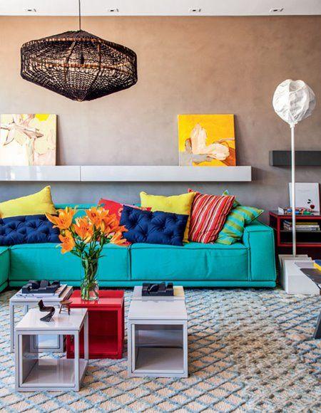sofa de colors