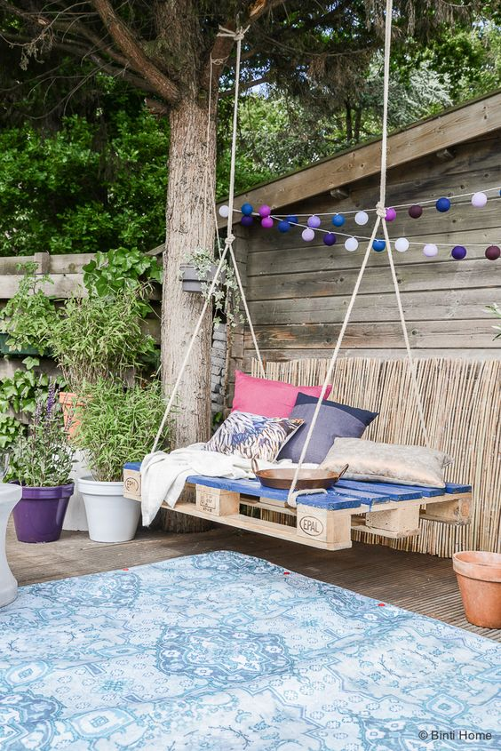 Muebles de terraza con pales