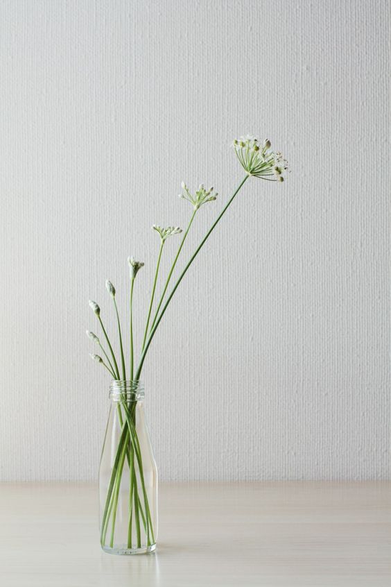 decoración zen ikebana
